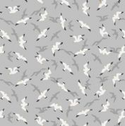 Lewis & Irene - Old Harry Rocks - 6431 - Seagulls on Pale Grey - A368.1 - Cotton Fabric